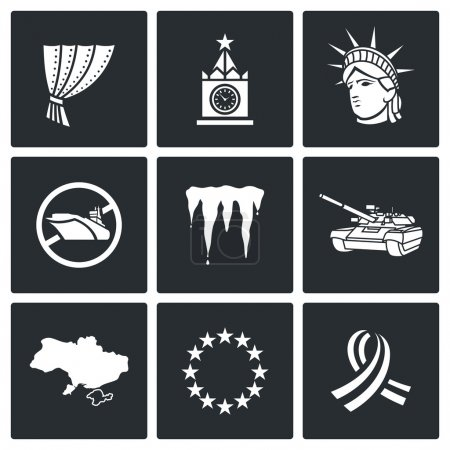 Conflict and annexation icons