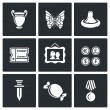 Hobby of collecting icons set. Flat Icons collecti...