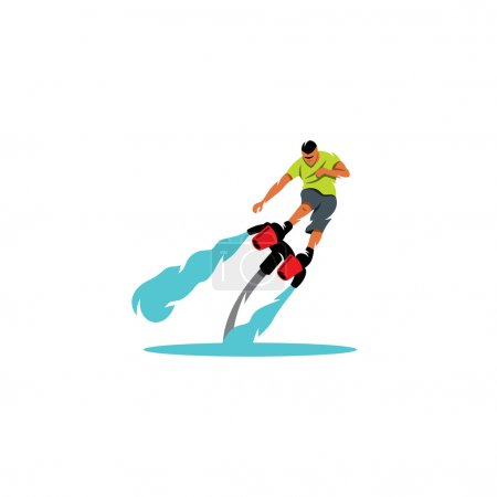 Sportsman soars over water