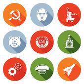 Soviet union Icons Set