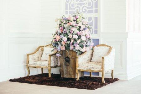 Beautiful luxury Pillows on sofa decoration