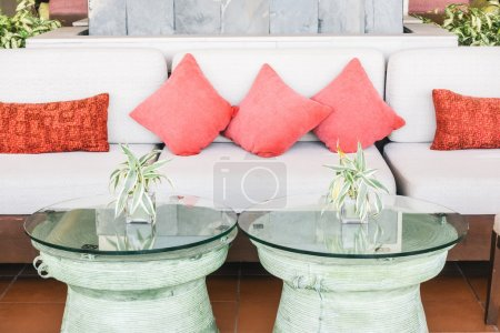 Pillows sofa and chair