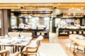 Rozostření interiér restaurace