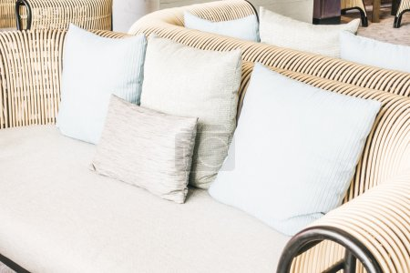 Pillows on sofa decoration