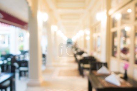 blur luxury restaurant interior