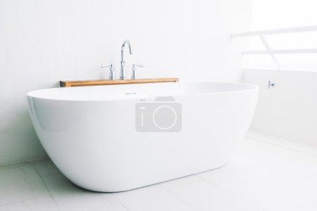 Beautiful luxury white bathtub decoration