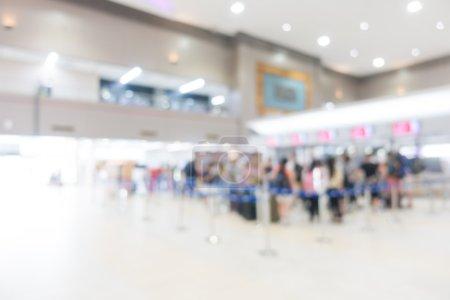 blur beautiful luxury airport interior