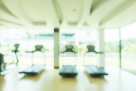 blur gym and fitness interior room