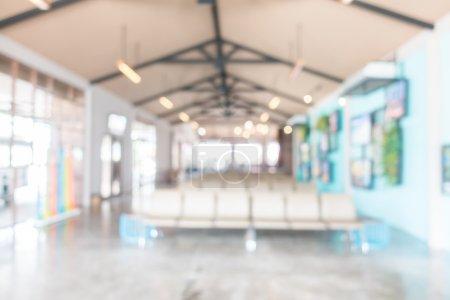 blur hotel lobby interior