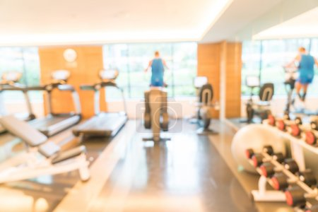 Photo for Abstract blur fitness gym interior background - Royalty Free Image