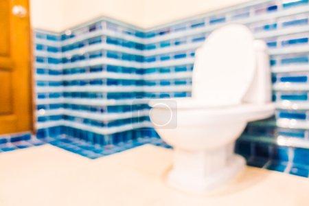 blur toilet room interior