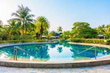 Luxury outdoor swimming pool