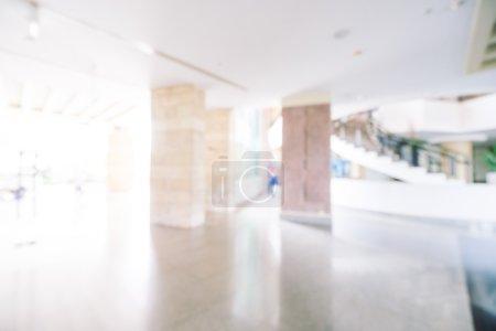 Foto de Resumen blur interior de hotel lobby sala de fondo, filtro de luz Vintage - Imagen libre de derechos