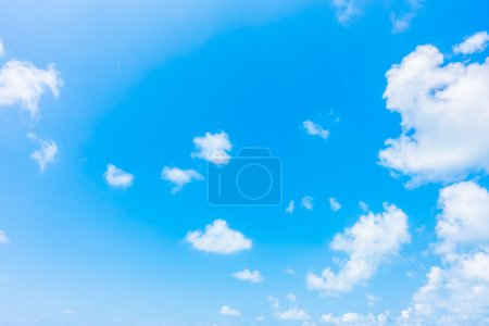 Photo for Beautiful white clouds on blue sky background - Royalty Free Image
