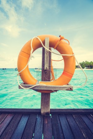 lifebouy or safety ring in maldives resort