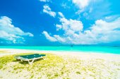 Beautiful beach and sea in Maldives island