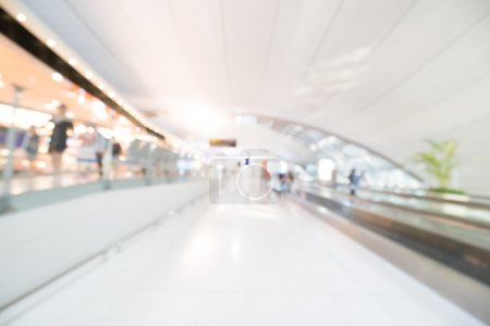 blur airport terminal interior