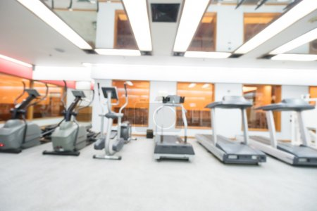 Abstract blur gym and fitness room
