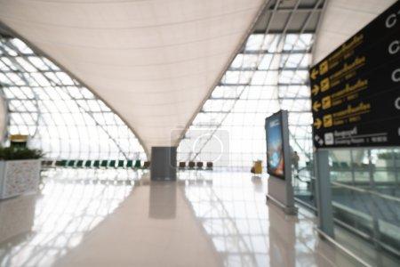 Photo pour Résumé flou intérieur terminal aéroport le plus pratique pour le fond - image libre de droit