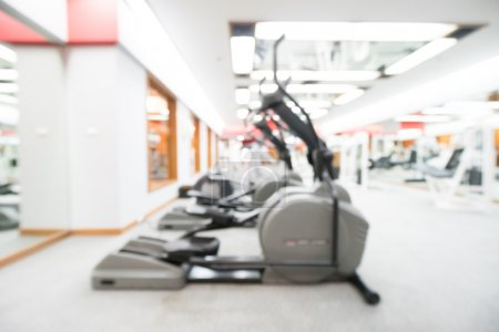Photo for Abstract blur gym and fitness room interior for background - Royalty Free Image