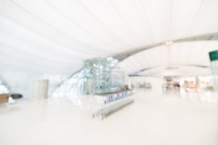 Abstract blur airport terminal interior