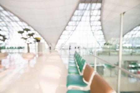 Abstract blur airport terminal interior
