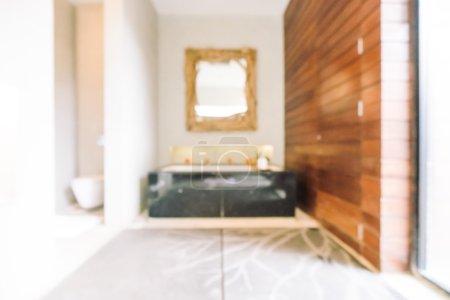 blur bathroom and toilet interio