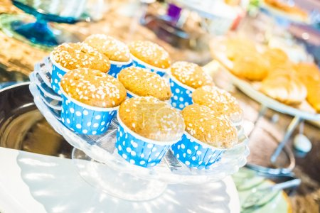Photo for Catering bread buffet for breakfast - Royalty Free Image