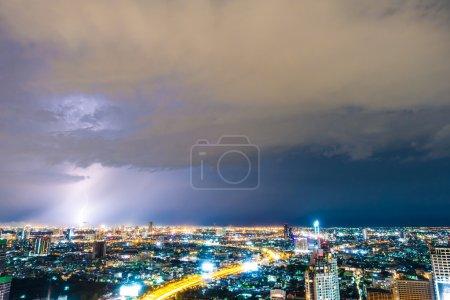 Beautiful thunderstorm lightning