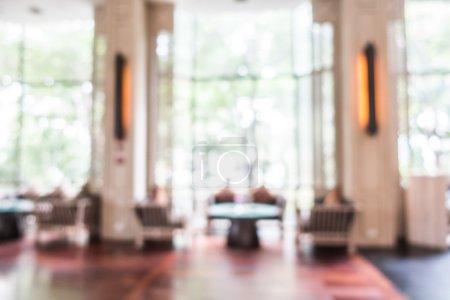 Photo pour Résumé flou intérieur de Hall de l'hôtel de luxe belle pour le fond - image libre de droit