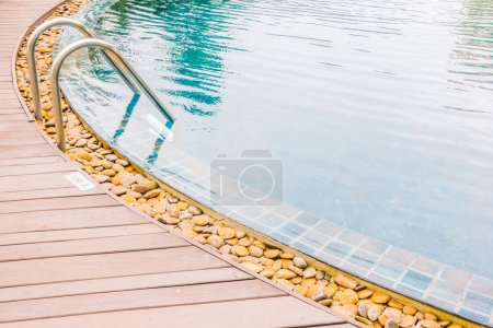 Pool stair decoration