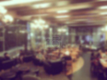 Cafetería abstracta borrosa