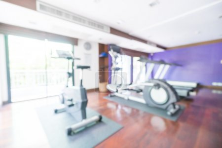 Abstract blur gym room