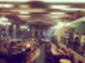 Abstraktní rozostření coffee shop