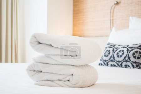 Bath towel for take a shower on bed decoration in ...