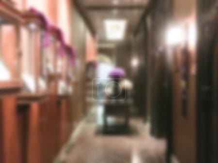 Blur hotel interior