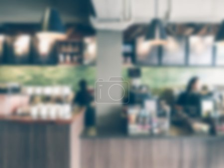 Abstract blur coffee shop