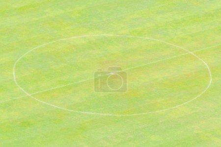 Football stadium with green grass