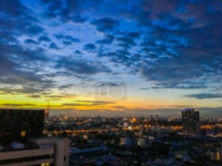 Abstract blur bangkok city