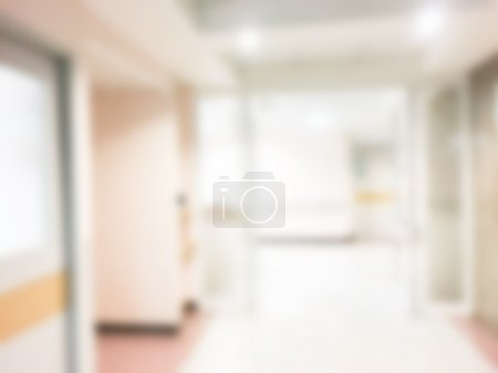 Abstract blur hospital