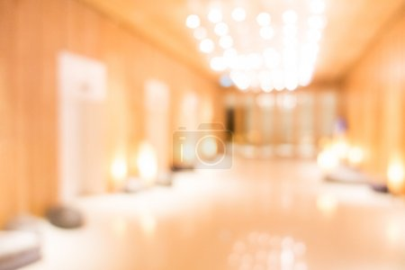 Abstract blur hotel lobby