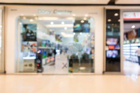 Photo pour Flou abstrait beau luxe shopping mall center et intérieur de magasin de détail pour le fond de catalogue - image libre de droit