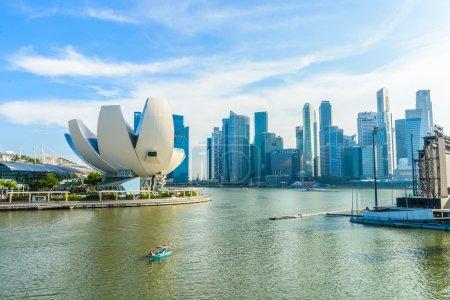 SINGAPORE - JUNE 24: ArtScience Museum on JUNE 24, 2014 in Singa