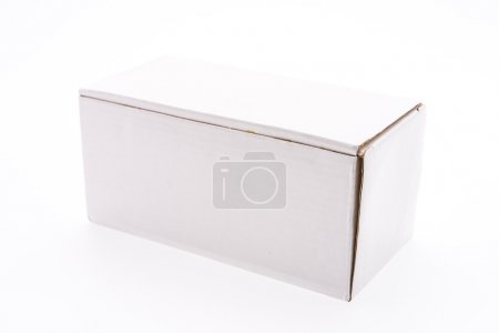 Photo for Carton box isolated on white - Royalty Free Image