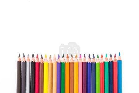 Photo pour Crayons colorés isolés sur fond blanc - image libre de droit