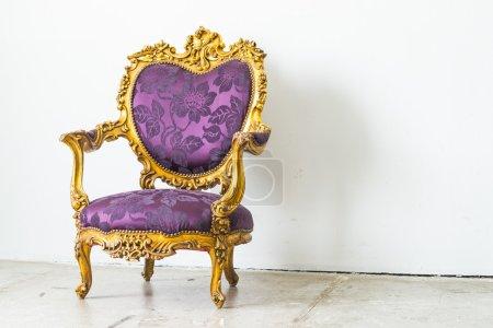 Photo for Purple Vintage sofa - Royalty Free Image