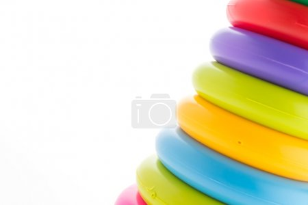 Photo for Toy tower isolated on white background - Royalty Free Image