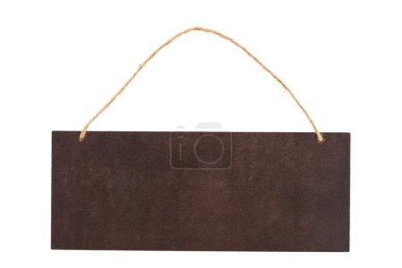 Photo pour Panneau en bois isolé sur fond blanc - image libre de droit