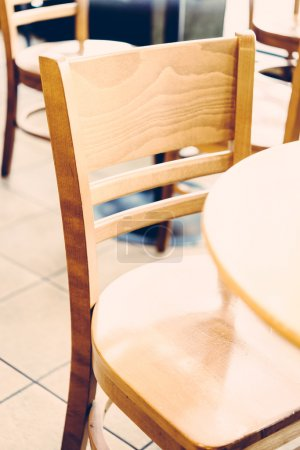 Selective chairs in coffee shop