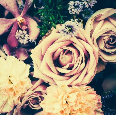 Photo pour Vintage origines anciennes de fleur - vintage effet photos style - image libre de droit